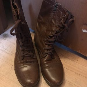 Steve Madden Shoes - Steve Madden Troopa Leather Combat Boots